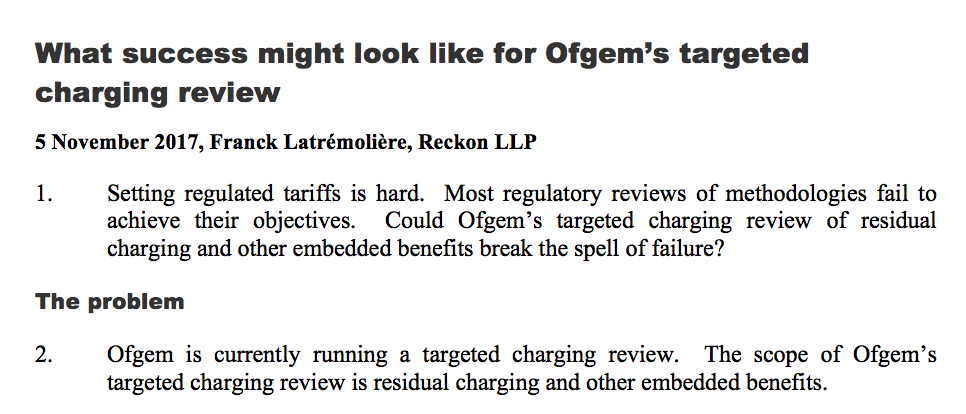 What success might look like for the targeted charging review (7 pages, PDF)
